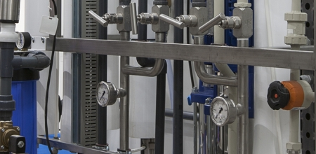 Обвязка линии водоподготовки на крупном фармацевтическом предприятии в Республике Беларусь