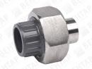 GF 545. Муфта разъемная переходная, PVC-U / нерж. сталь, раструб / под приварку