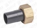 GF 550. Слив, PVC-U / латунь, патрубок-раструб / внутр. резьба G
