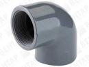 TP GOF. Колено 90° резьбовое, PVC-U, внутр. резьба Rp