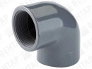 TP GOP. Колено 90° переходное, PVC-U, раструб / внутр. резьба Rp
