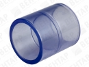 Муфта, PVC-U (прозрачный), раструб