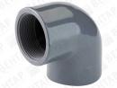 GOP. Колено 90° переходное, PVC-U, раструб / внутр. резьба Rp
