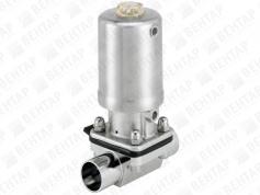 2063. Клапан мембранный с пневмоприводом (привод из нержавеющей стали)