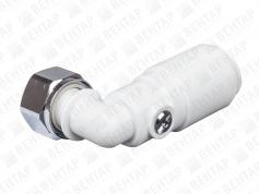 SVBTC. Кран сервисный угловой с накидной гайкой, цанга / внутр. резьба