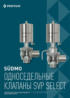 Pentair. Односедельные клапаны Sudmo SVP Select